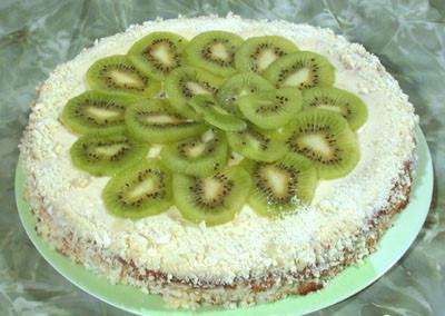 Бананово-ананасовый торт