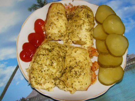 Картошка с ветчиной под сыром