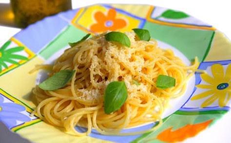 Чесночные спагетти