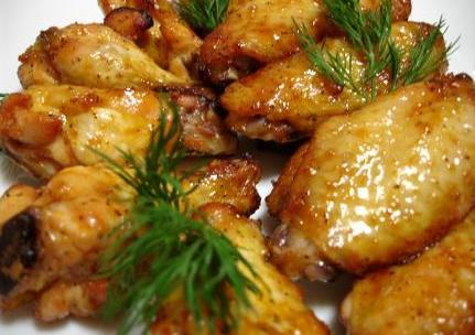 Куриные крылышки в сладком чили-маринаде