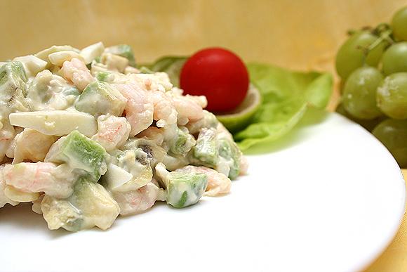 Салат авокадо с креветками рецепт с 32