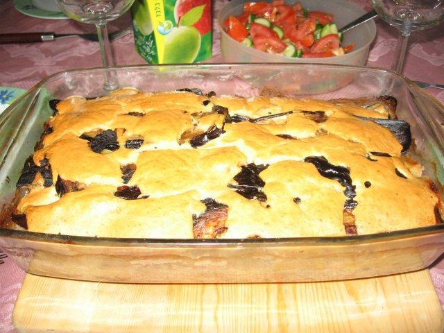 Пирог татен с баклажанами