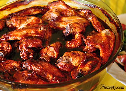 Куриные крылышки в сладком соусе