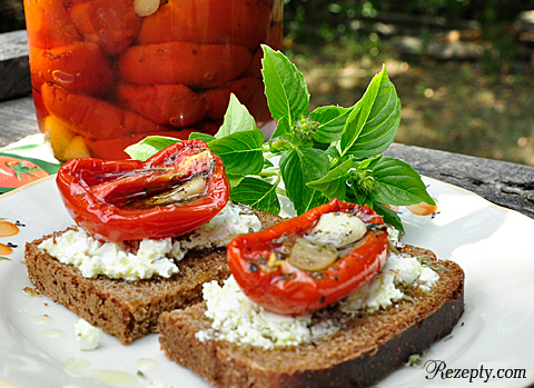 Вяленые помидоры в масле (заготовка)