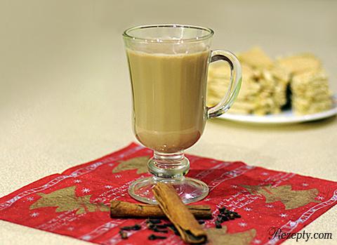молочно пряный чай