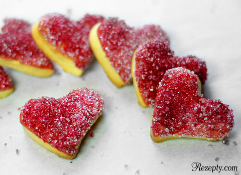 сметанное печенье «Валентинки»