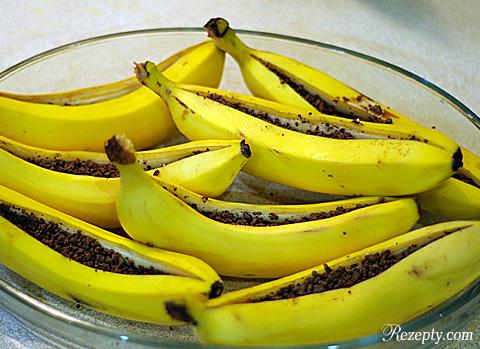 запеченые бананы с шоколадом рецепт